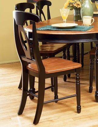 AAmerica BRIHE285K British Isles Series Transitional Wood Solid Hardwood Frame Dining Room Chair