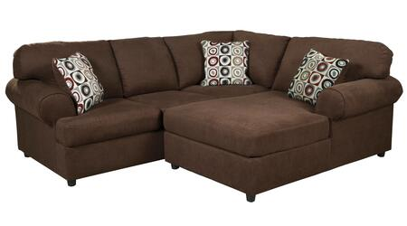 Milo Italia Camila MI-8234DTMP 2-Piece Sectional Sofa with X Arm Facing Chaise and X Arm Facing Sofa in Java Brown