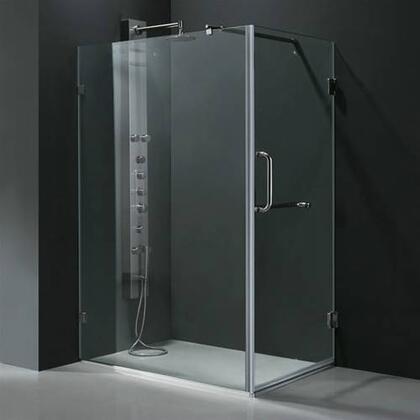 "Vigo VG6012XXCL36 46""W x 34.125""D x 73.33""H Frameless 3/8"" Shower Enclosure:"