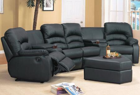 Yuan Tai VE4001BR Contemporary Leather Living Room Set