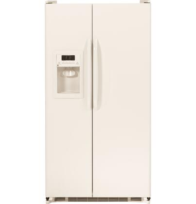 GE GSH22JGD 21.9 Cu. Ft. Side-By-Side Refrigerator With Dispenser, ClimateGuard System, Adjustable-Humidity Drawer, Snack Drawer, Adjustable Gallon Door Bins, and Adjustable-Temperature Drawer