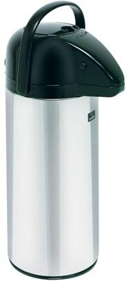 Bunn-O-Matic 130410x01 2.5L Push Button Airpot Portable Server With Black Cover Lid, Glass Airpot Liner, in Stainless Steel
