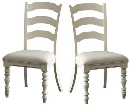 Hillsdale Furniture 5265802 Pine Island Series Traditional Fabric Wood Frame Dining Room Chair