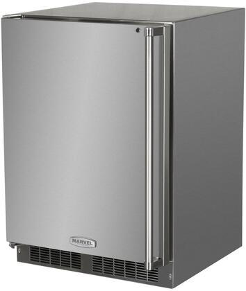 "Marvel MO24RFS2xS 24"" Outdoor Refrigerator and Freezer with 4.9 cu. ft. Capacity, Dynamic Cooling Technology, Intuit Integrated Control, LED Lighting, Door Lock and Stainless Steel Exterior with"