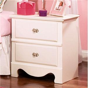Standard Furniture 50257 Spring Rose Series  Wood Night Stand