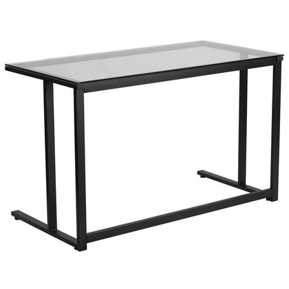 Glass Desk with Black Frame