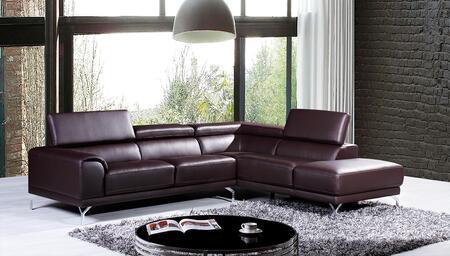 VIG Furniture VGKNK8214TOPBRNRAF Divani Casa Wisteria Series Stationary Sofa