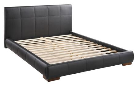 """Zuo Amelie Collection 80021 84"""" King Bed with Tufted Detailing, Leatherette Upholstery and Block Feet in"""