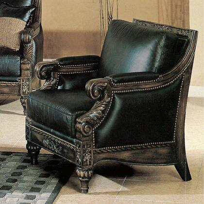 Yuan Tai MA8000C Manhattan Series Leather Chair with Wood Frame