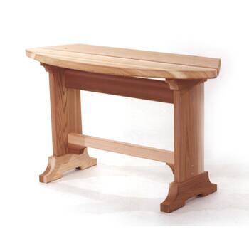 All Things Cedar RB30U Traditional Cedar Frame Armless Patio Benches