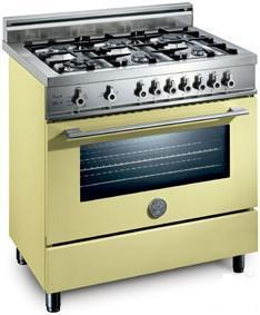 Bertazzoni X366PIRCRLP Professional Series Dual Fuel Freestanding Range with Sealed Burner Cooktop, 4 cu. ft. Primary Oven Capacity, in Cream