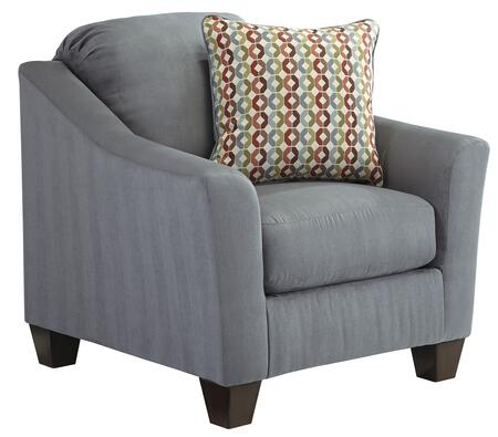 Milo Italia MI-2785BTMP Victoria Chair with Flared Wedge Arms, Tapered Legs and Plush Loose Seat Cushion in