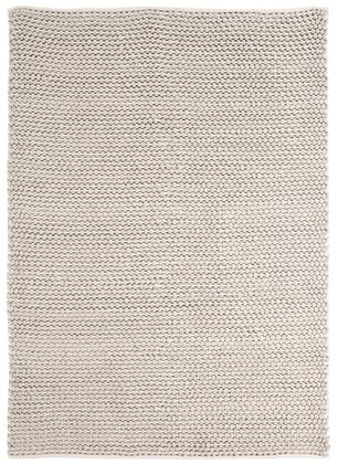 """Signature Design by Ashley Hand Woven R40142 """" x """" Size Rug with Patterned Grid, Hand-Woven Made, Made in India and Wool Material in Grey Color"""