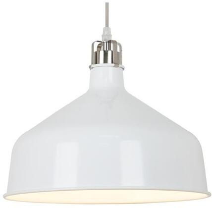 "EdgeMod Banbury Collection 11.75"" x 7.5"" Pendant Lamp with Transparent Cord, LED Light Compatible, Fully Dimmable and Iron Construction in"
