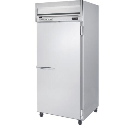 Beverage-Air HRP1W-1 Horizon Series One Wide Section [Solid Door] Reach-In Refrigerator, 34 cu.ft. capacity, Stainless Steel Front and Sides, Aluminum Interior