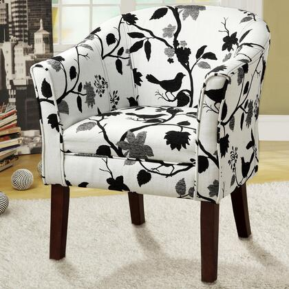 Coaster 460406 Accent Seating Series Fabric Wood Frame Accent Chair