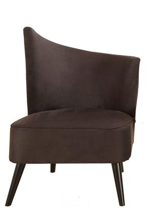 Armen Living LC2132MF Elegant Accent Chair with Flaired Back (Left Right Side), 1.8 density Fire Retardant Foam and Durable Microfiber Fabric in