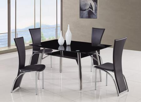 Global Furniture USA A091DT1499DC5pcBL Dining Room Chairs