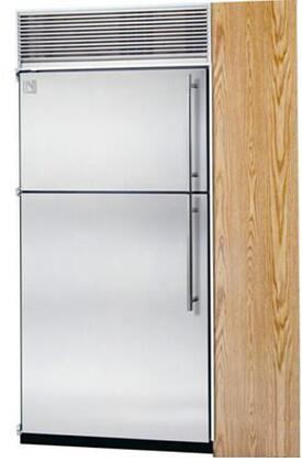 Northland 24TFWSR Built In Counter Depth Top Freezer Refrigerator with 14.9 cu. ft. Total Capacity 4 Glass Shelves 4.7 cu. ft. Freezer Capacity