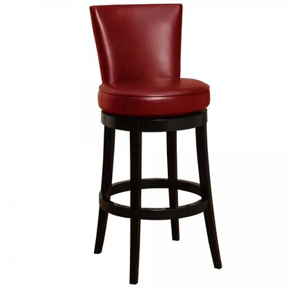Armen Living LC4044BARE Boston Swivel Bar stool with 360 Degree Swivel Mechanism, Fire Retardant Foam Padding and Bycast Leather Upholstery in Red