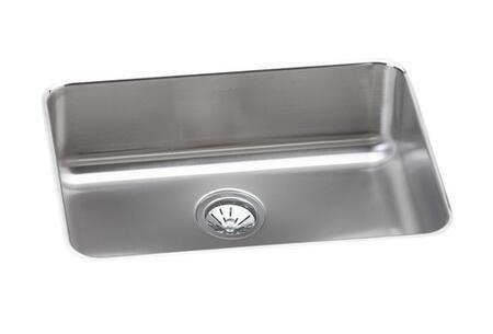 """Elkay ELU231712 24"""" Undermount Sound Guard Undercoating Single Bowl 18-Gauge Stainless Steel Sink"""