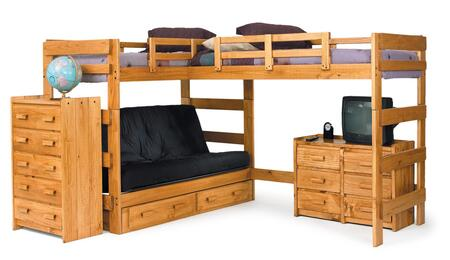 Chelsea Home Furniture 3662001S  Twin Size Loft Bed