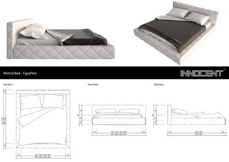 VIG Furniture VGINSVONO Modrest Svono Bed with Low Profile Design, Aesthetic Texture and Eco-Leather Upholstery in White