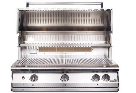 "PGS S36R PGS Legacy 39"" Pacifica Gourmet Grill Head with Infrared Rotisserie Burner, 80,000 BTU, 304 Grade Stainless Steel Burners, and Heavy Duty Stainless Steel Rock Grates"