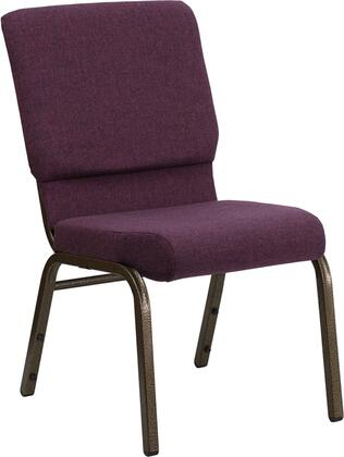"""Flash Furniture HERCULES Series FD-CH02185-GV-XX-GG 17.75"""" Stacking Church Chair with 4.25"""" Thick Seat, Gold Vein Frame, Waterfall Seat Reduces Leg Strain, and Plastic Rocker Glides"""