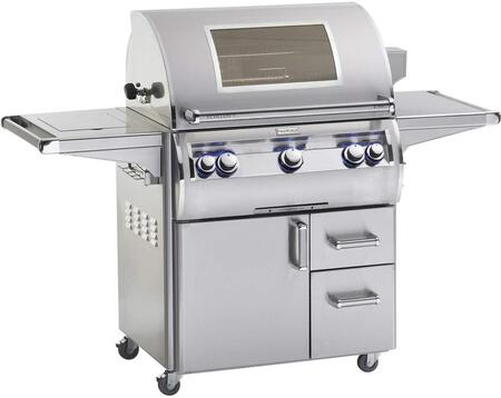"FireMagic E790S4LAx62W 80"" Echelon Diamond Series Cart with 36"" Grill, 96000 Total BTU, 792 Sq. In. Cooking Area, Single Infrared Burner and Analog Thermostat, in Stainless Steel with Magic View Window"