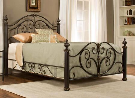 Hillsdale Furniture 1012BR Grand Isle Panel Bed Set with Rails Included, Scrollwork, Aluminum Castings and Heavy Gauge Tubular Steel Construction in Brushed Bronze Finish