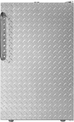 "AccuCold FS407LXxDPLx 20"" Upright Freezer with 2.8 cu. ft. Capacity, 4 Pull-Out Storage Drawers, Reversible Door and Manual Defrost, in Diamond Plate Finish"