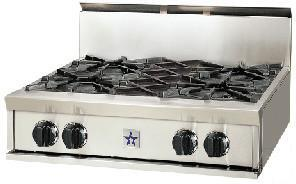 """BlueStar RGTNB304BSS 30"""" Natural Gas Open Burner Style Cooktop, in Stainless Steel"""