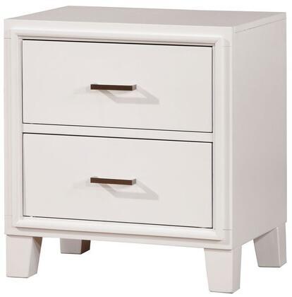 Furniture of America CM7068WHN Enrico I Series Rectangular Wood Night Stand
