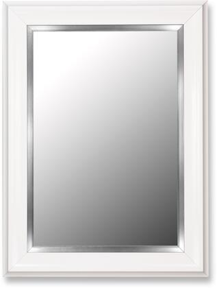 Hitchcock Butterfield 20690X Cameo Grande Mirror in Glossy White with Stainless Liner