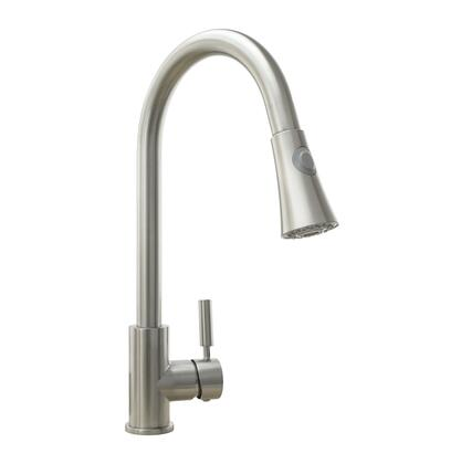 Cosmo COSKF501x Pull Down Single Kitchen Faucet with Pull Down Sprayer, Stainless Steel Braided Hose, Ceramic Disc Valve and Brass Construction, in