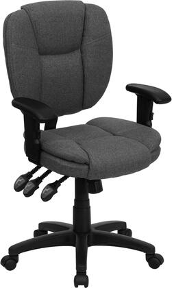 "Flash Furniture GO930FGYARMSGG 19.75"" Contemporary Office Chair"