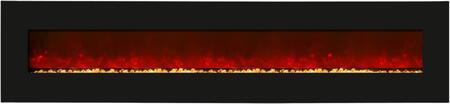 Amantii WMBI10611524BLKGLS WMBI Series Wall Mountable Electric Fireplace