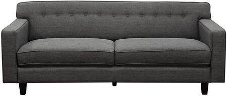 Diamond Sofa MIDCENTURYSOSL Mid-Century Series Stationary Fabric Sofa