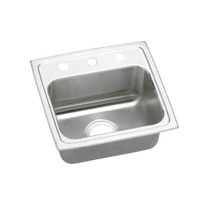 "Elkay LRAD1716400 Lustertone 3-7/8"" Drop-In Single Bowl Stainless Steel Sinks"