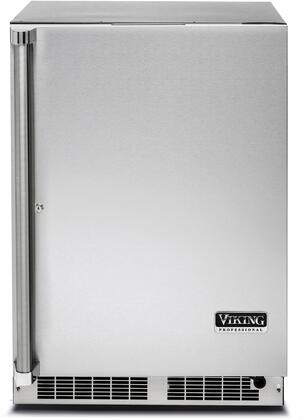 "Viking VRUO5240D 24"" Energy Star Rated Professional 5 Series Undercounter Refrigerator with 5.1 cu. ft. Capacity, Dynamic Cooling System, and MaxStore Smooth-Glide Clear Utility Bin: Stainless Steel"