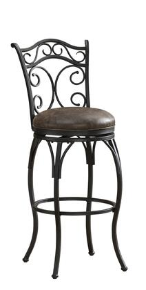American Heritage 11112C Solana Series Stool with Graphite Metal Frame and Bonded Leather Cushion in Coco