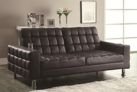 Coaster 300294 Sofa Beds Series Loveseat Sleeper Vinyl Sofa