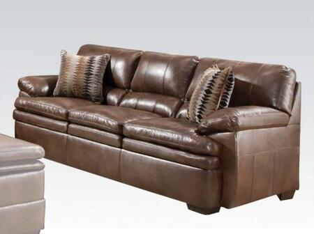 Acme Furniture 52310 Devin Series Stationary Leather Match Sofa