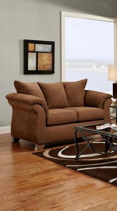 Chelsea Home Furniture 6702AC Verona IV Series Fabric Stationary with Wood Frame Loveseat