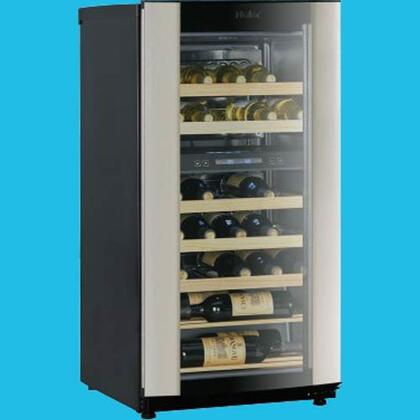 """Haier HVZ040ABH5S 19.94"""" Free Standing Wine Cooler, in Stainless Steel"""