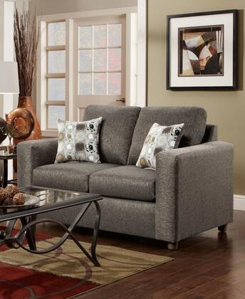 Chelsea Home Furniture 193602VO Talbot Series Fabric Stationary with Wood Frame Loveseat