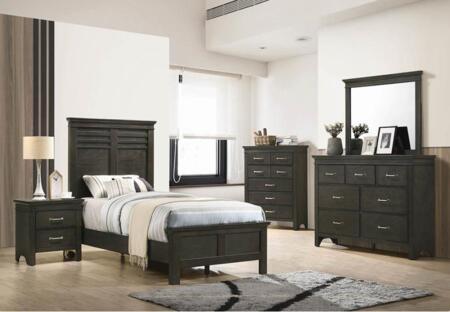 Coaster Newberry 5 Piece Twin Size Bedroom Set