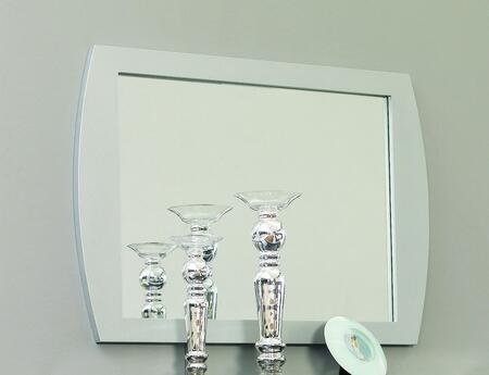 VIG Furniture VGKCMONTESILMI Modrest Monte Carlo Series Rectangular Portrait Wall Mirror