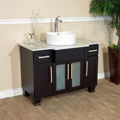 "Bellaterra Home 604023 40"" Single Sink Vanity: Dark Mahogany"